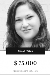 Sarah Titus is living proof that bloggers earn income blogging. She's earning over $75,000 a month online. #makemoneyblogging