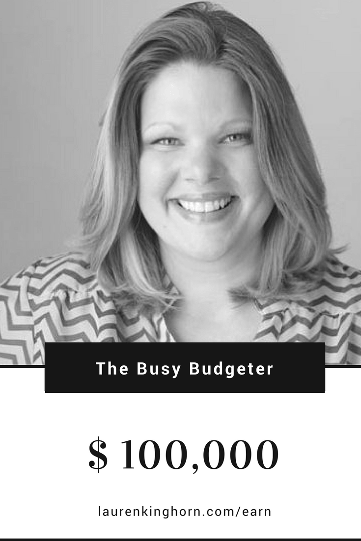 Rosemarie Groner aka The Busy Budgeter is living proof that bloggers earn income blogging. She's earning over $100,000 a month online. #makemoneyblogging