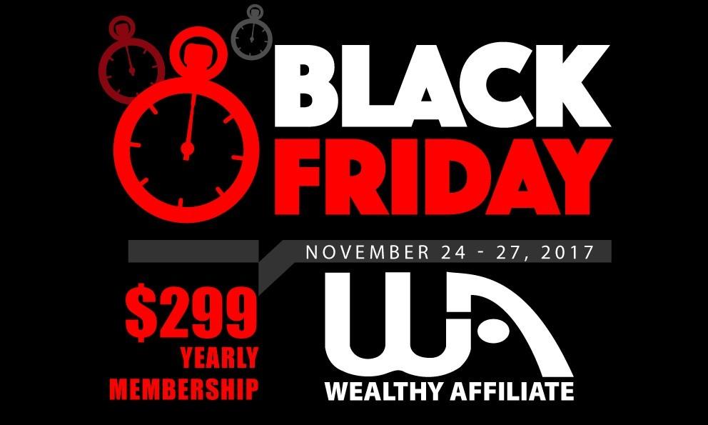 The Black Friday Sale - Wealthy Affiliate Annual Membership - laurenkinghorn.com
