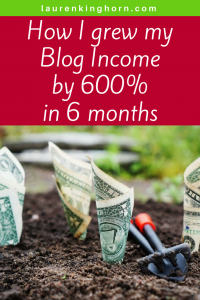 Are your ready to make money with your online blog? Read more at laurenkinghorn.com #makemoneywithanonlineblog #affiliatemarketing #bloggerincomereports