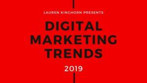 Digital Marketing Trends in 2019