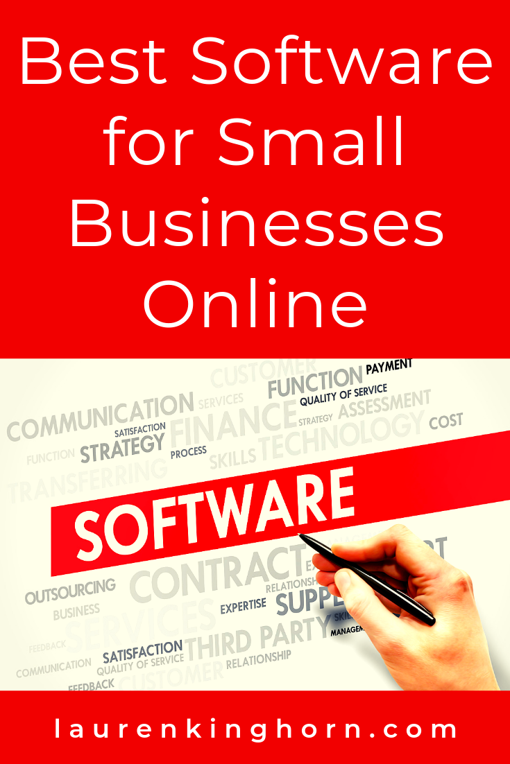 A quick list of software I use every day in my online business as well as some software I aim to use in the near future. #bestsoftwareforsmallbusinesses