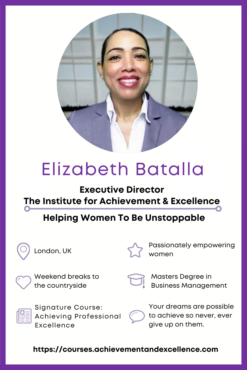 Learn how to level up your life fast with Elizabeth Batalla, founder of The Institute for Achievement and Excellence. Giveaway details inside.