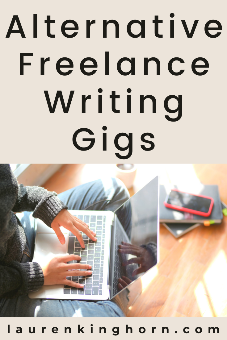 Freelance writing offers a means to generate multiple income streams, especially with these alternative freelance writing gigs from Author Mark Plets. #freelancewritinggigs #creativewithcontent #contentwriting