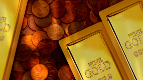 Gold Coins Gold Bars