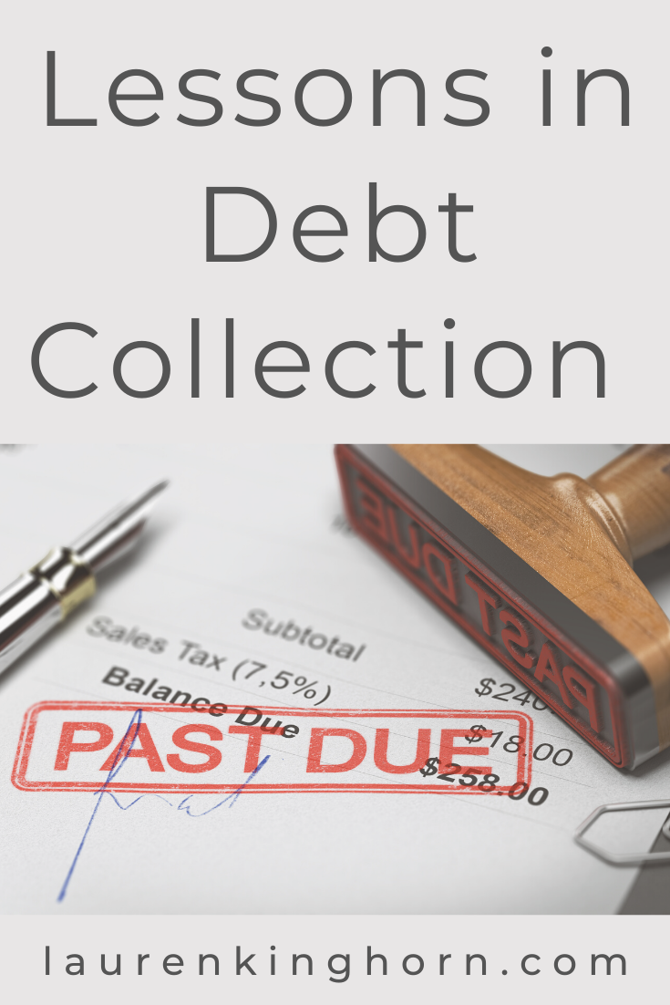 How do you handle debt collection in your business?     These are lessons I've learned in debt collection over the years.     Post sponsored by Pacific Collection Group.     #DebtCollection #DebtCollectionAssistance #PacificCollectionGroup