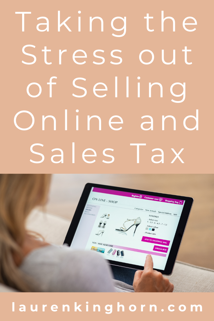 Do you have to pay sales tax as an online seller or dropshipper? The short answer, not when you're first starting out. The longer answer in this post. #sellingonlineandsalestax #dropshipping #ecommerce #salestaxcompliance
