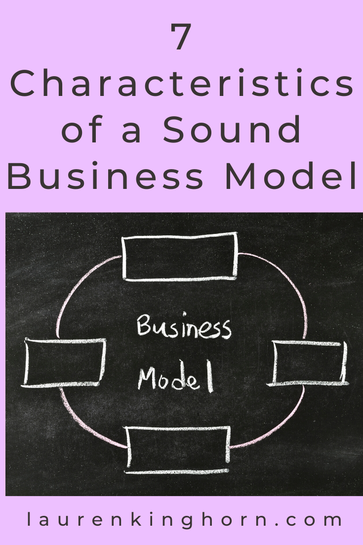Answer these questions to get to know the 7 characteristics of a sound business model so you can map out your path to business success. #characteristicsofasoundbusinessmodel
