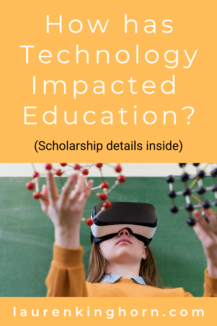Sharing my perspective (as a 46-year-old Mom) on how technology has impacted education over the last 30 years. Tech Live Connect Scholarship details inside. #HowHasTechnologyImpactedEducation #Information #Innovation #Sponsored