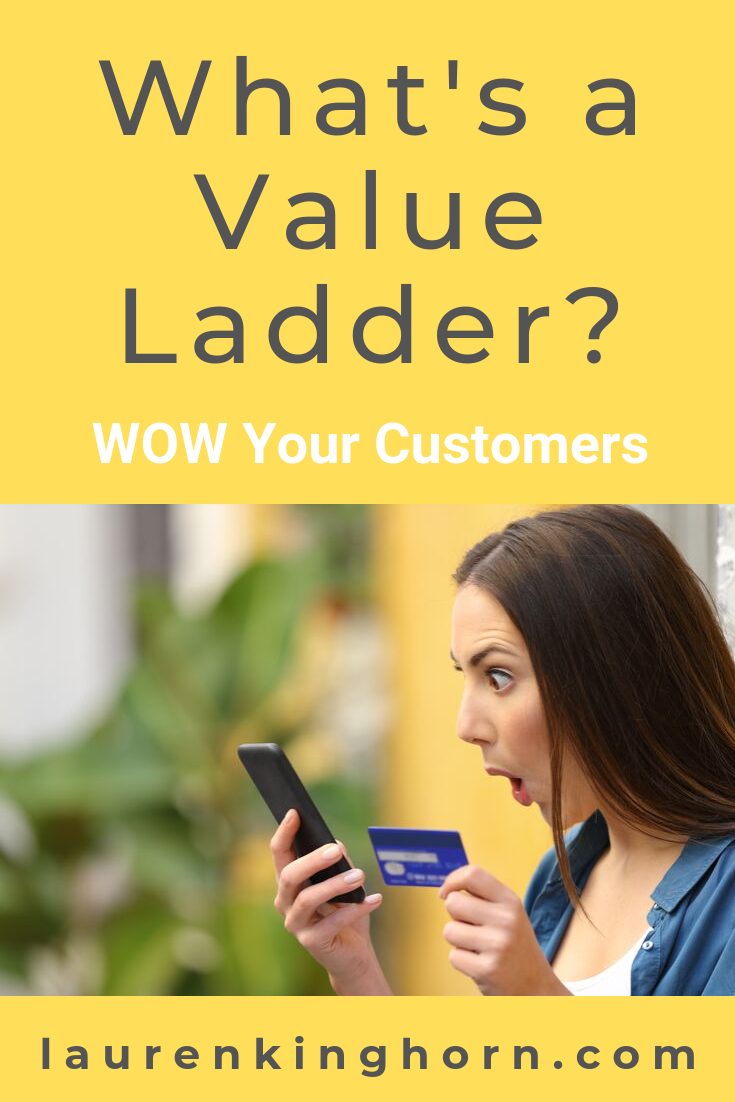 Wow your Customers into buying your products again and again by understanding the Value Ladder and creating a Sales Funnel. Learn More... #whatsavalueladder #salesfunnel #digitalmarketingstrategy #onlinemarketingstrategy