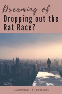 Thinking of dropping out the rat race? Ready to fire your boss? Here are some great alternatives. Read more at laurenkinghorn.com