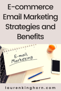 Here are three major e-commerce email marketing strategies and the five primary benefits of incorporating e-mail marketing into your e-commerce business.